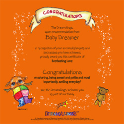 Baby Dreamer Certificate (FREE)